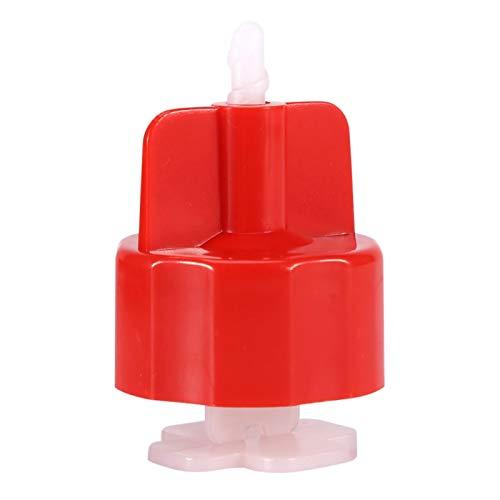 Kakelutjämningssystem Kit, Kakelnivelleringsavstånd, 100st Plastklämmor Golvväggsplattor Avståndshållare Rem Kakel Platta Planeringsverktyg(Röd keps)