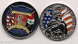F.O.B. Camp Cedar II, Iraq (Silver - New Style) fire Challenge Coin (Patch) by HighQ Store