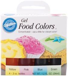 Wilton 448965 Gel Food Coloring Set 4PkgEaster