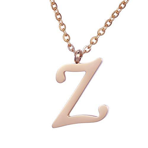 Morella Collar de Oro Rosa y Acero Inoxidable con Colgante Letra Z