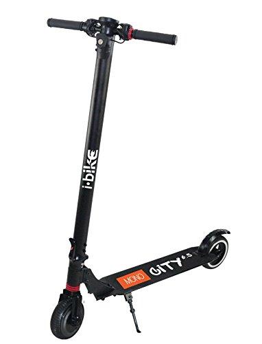 I-Bike Monopattino Elettrico City 6,5, Velocità massima 25km/h, Autonomia 10km, Nero