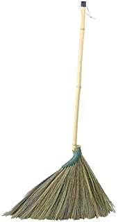 Straw Broom Sweeping Hair Dust Cleaning Corner Soft Durable Environmental Protection Bamboo Handle Hand Made Can Be Hung (...