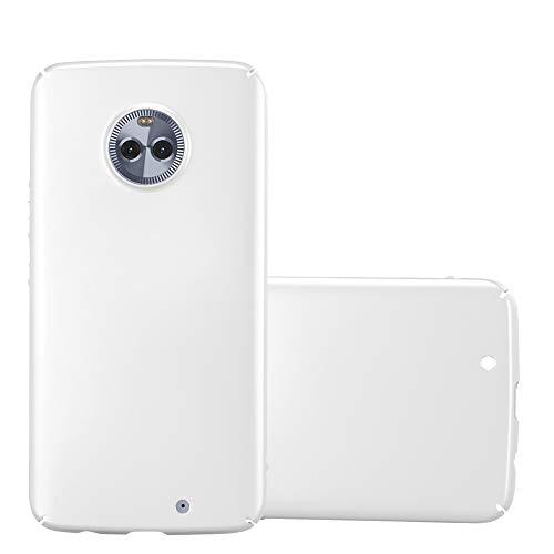 Cadorabo Custodia per Motorola Moto X4 in Argento Metallo - Rigida Cover Protettiva Sottile con Bordo Protezione - Back Hard Case Ultra Slim Bumper Antiurto Guscio Plastica