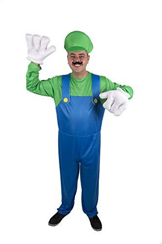 Costumizate! Disfraz de Fontanero Italiano Adulto Especial para Fiestas de Disfraces y Carnaval Talla Unica
