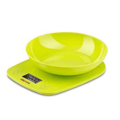 Girmi PS01 Mesa Alrededor Báscula electrónica de cocina Verde - Báscula de cocina (Báscula electrónica de cocina, 5 kg, 1 g, Verde, Mesa, Alrededor)