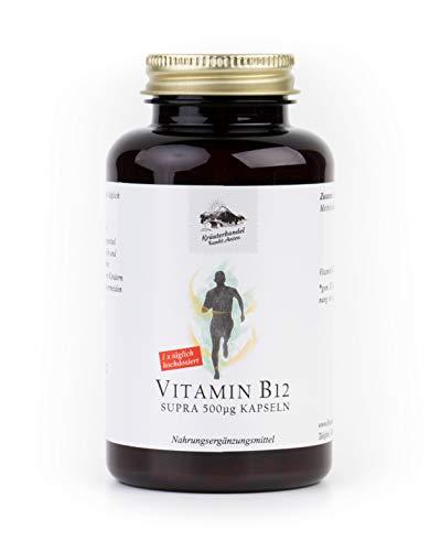 KRÄUTERHANDEL SANKT ANTON® - Vitamin B12 - Hochdosiert - 500 mcg - Laborgeprüft - Deutsche Premium Qualität (185 Kapseln)