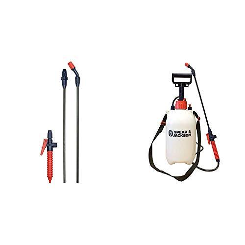 Spear & Jackson Extendable Sprayer Wand - Black with Pump Action Pressure Sprayer, 5 Litre