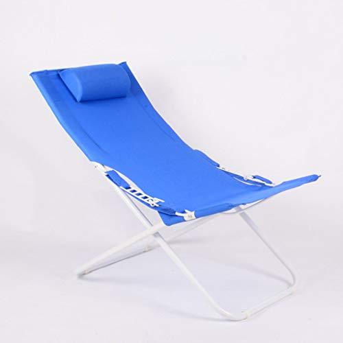 LIN HE SHOP Chaise de Loisirs de Bureau à Domicile, Chaise Longue Pliante renforcée Simple, pour Le Camping en Plein air sur la Plage