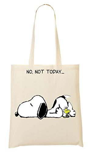 BakoIsland No Not Today Snoopy Dog Tragetasche Einkaufstasche