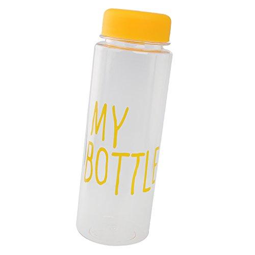 perfeclan 500ml BPA Free Drink Jugo De Fruta Taza De Agua Mi Botella Botella Deportiva Vaso De Viaje - Amarillo