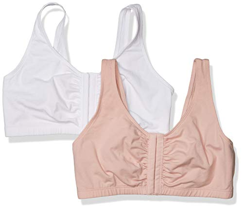 Fruit of the Loom Front Close Builtup - Reggiseno sportivo da donna...
