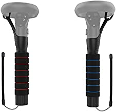 AMVR [Pro Version] Dual Handles Extension Grips for Oculus Quest 1 or Rift S Controllers Playing Beat Saber Games