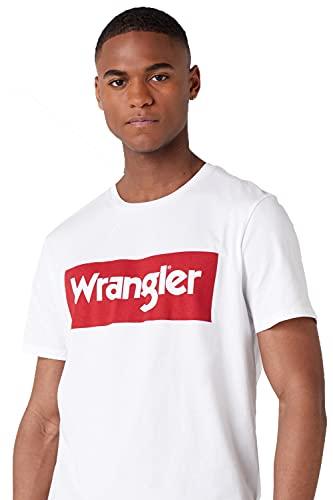 WRANGLER Logo Tee, Maglietta a Maniche Corte Uomo, Bianco (White 989), XXXL