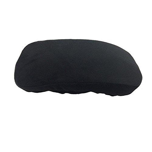 Hunpta - Almohadilla para reposabrazos de silla desmontable, funda de espuma viscoelástica, cojín extraíble para sillas de oficina y sillas de ruedas, tamaño 25.5 x 13.0 x 2.5 pulgadas, color negro