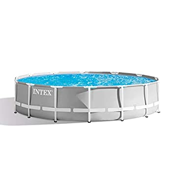 Intex 26719EH 14ft X 42in Prism Frame Pool Set Light Grey