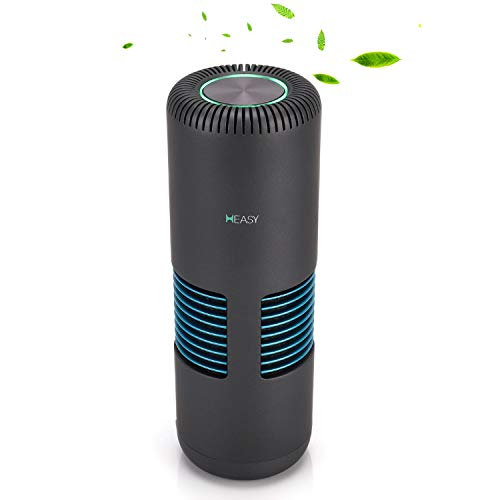 HEASY Air Purifiers for Home, Mini Portable Air Purifier with True HEPA for Car Bedroom Kitchen Office Allergies and Pets: Remove 99.97% Smoke Dust Pollen Odor PM2.5, Ozone Free- Gray