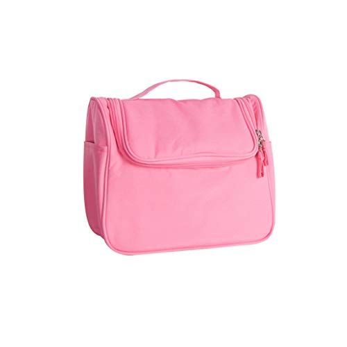 Sac de Voyage cosmétique Petit Portable Simple Grande Capacité Multi-Fonction Cosmétique Rangement Sac de Lavage (24x12.5x19.5cm) (Color : Pink, Taille : 24 * 12.5 * 19.5cm)