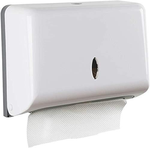 Papierhandtücher Spender Wandmontage Papiertuchspender ohne Bohren Falthandtuchspender Bad Toilettenpapierspender Papierhandtuchhalter für 200 C-Falz, Weiß