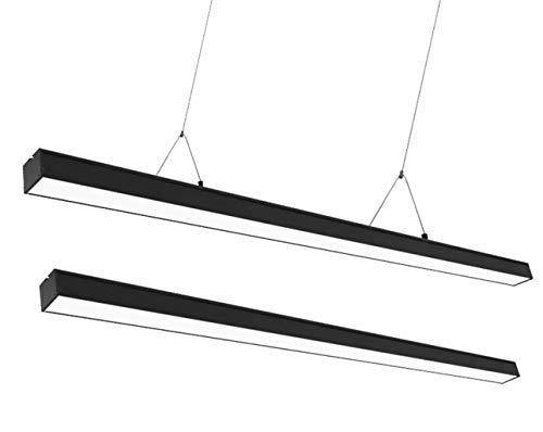 DTDD Candelabro LED Lámpara Colgante de Isla de Oficina Lámpara Colgante Minimalista Moderna Sótano Corredor Estudio Lámpara Colgante de Techo Sala de conferencias Lámpara Colgante Rectangular a