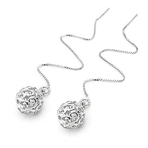 XIALIMY Pendientes para Joyería 925 Pendientes de Plata esterlina para Mujeres Joyas de Moda Sterling-Silver-Jewelry Pendientes