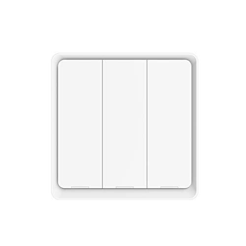 XUANWEI Tuya ZigBee Interruptor de Escena Inalámbrico Botón Controlador de Escenas Funciona con Batería son Gratis para Pegar, Necesita ser utilizado con una Puerta de Enlace