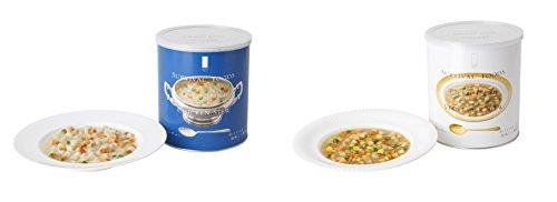 25年保存可能 【サバイバルフーズ】 小缶 野菜シチュー+チキンシチュー(2缶セット・5食相当) <Seishop> (#2&Half(小缶))