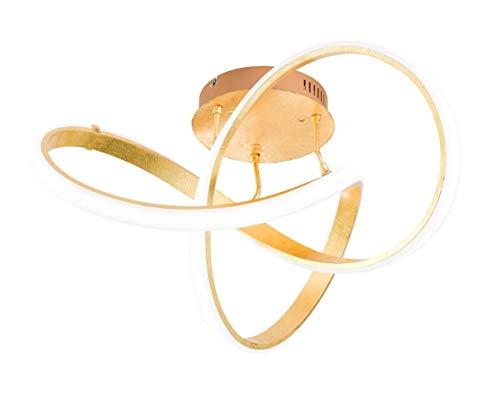 Wofi - LED Deckenleuchte Indigo modere Deckenlampe futuristisch gold