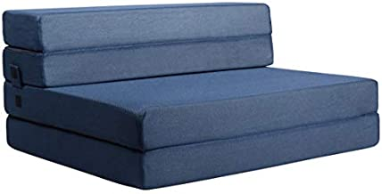 Milliard Tri-Fold Foam Folding Mattress and Sofa Bed for Guests (Full)