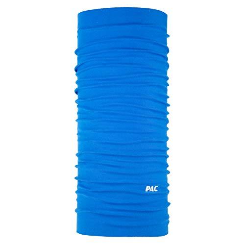 P.A.C. Original Royal Blue Multifunktionstuch - nahtloses Mikrofaser Schlauchtuch, Halstuch, Schal, Kopftuch, Unisex, 10 Anwendungsmöglichkeiten
