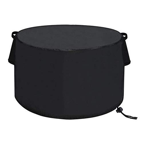 Feichanghao - Tapa grande para el hogar exterior impermeable, cortavientos, anti-UV, resistente al desgarro 420D Oxford tela exterior funda de calefacción de patio redonda – negro