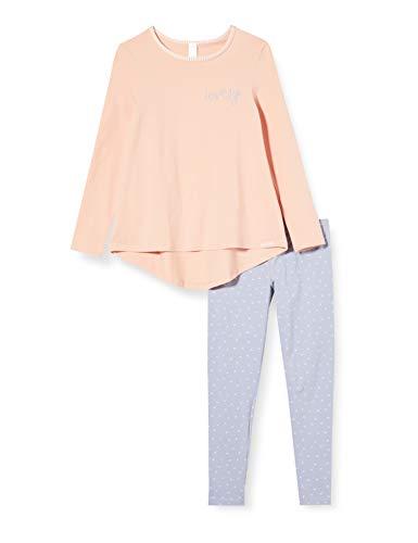 Skiny Mädchen Lovely Sleep Girls Pyjama lang Zweiteiliger Schlafanzug, Mehrfarbig (Rose Cloud 2196), (Herstellergröße:152)