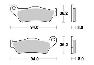 BREMSBELAGE VORNE AP RACING BENELLI BX ENDURO 505 2008