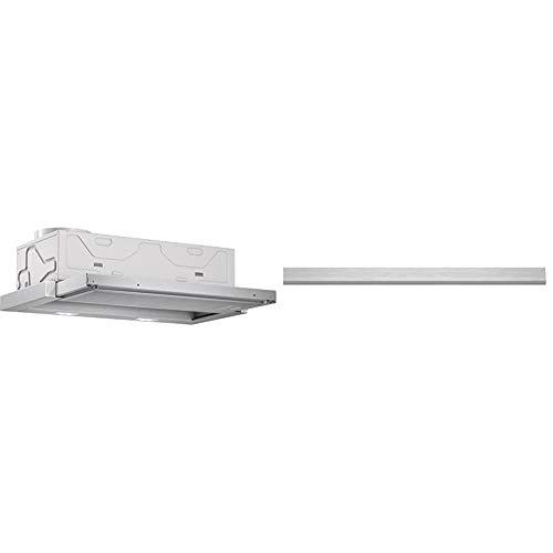 Bosch DFL064A50 Serie 4 Flachschirmhaube / 60 cm/Silbermetallic/wahlweise Umluft- oder Abluftbetrieb & DSZ4655 Zubehör für Dunstabzüge/Passend für: 60 cm breite Flachschirmhauben/Edelstahl