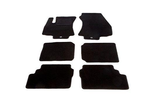 bester Test von opel zafira gebrauchtwagen Automatte, Samt, 6 Stück, perfekte Passform mit Stufenschutz, schwarz