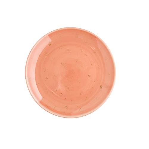 HEMOTON Keramikplatte Western Steak Flachplatte Esstisch Retro Flachplatte Ofen glasiert (Pink) Küche