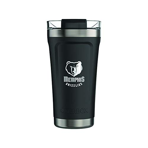 OtterBox Fan Brander 16oz Black Tumbler with NBA Design (Memphis Grizzlies)