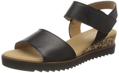 Gabor Shoes Damen Comfort Sport Riemchensandalen, Schwarz (Schw.(Korkts/Schw) 57), 35 EU