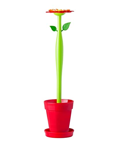 VIGAR Flower Power - Scopino per WC, Colore Rosso