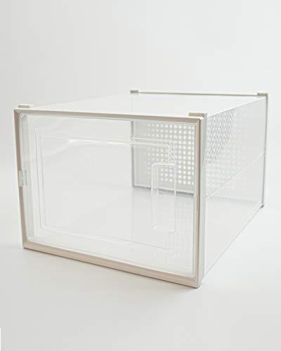 ERICSON Garcia Home - Juego de 6 Cajas Apilables para Bambas, Zapatos o Ropa, Cajas de Almacenamiento Plegables de Plástico Transparentes, Tamaño: 35 * 25 * 18'7 cm