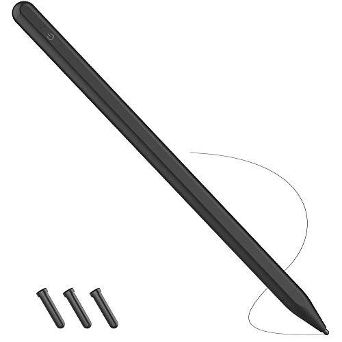 TATE GUARD Magnetische Befestigung,Automatisches Pairing,eingebaute Batterie Feine Punkt Spitze Aktiver Eingabestift für Touchscreen Stylus-Stift Kompatibel mit iPad Pro/Air/iPhone Schwarz
