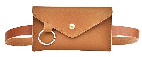Heuptas vrouw - riem plus tas - elegant - deelbaar - afneembaar - vrouw - meisje - origineel cadeau-idee - mode - praktisch - bruin