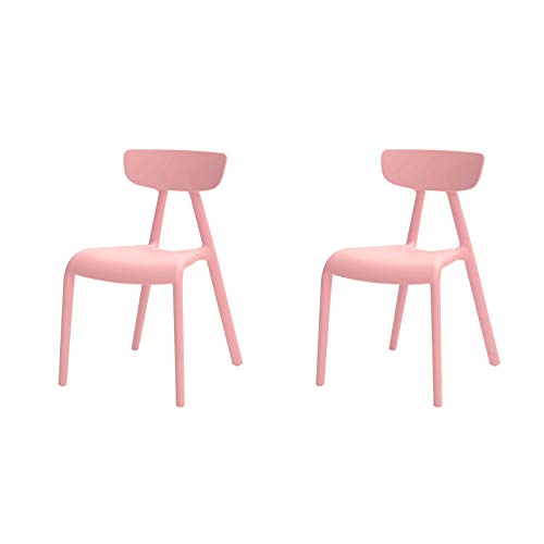 SoBuy KMB15-Px2 Lot de 2 Chaise Enfant Design Chaise pour Enfants Siège Garçons et Filles Confortable Rose - Haute Qualité