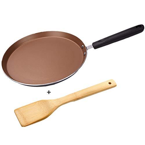 Mokpi Nonstick Skillet Crepe Pan Omelet Pan Pancake Fry Pan Kitchen or Camping Cookware 8Inch Gold
