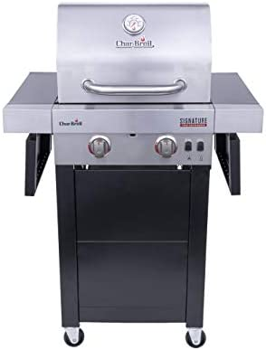 Char Broil 463632320 Signature TRU Infrared 2 Burner Cart Style Gas Grill Stainless Black product image
