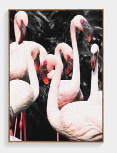 Donkerblauw boslandschap witte vogel thuislandschap poster afdrukken wandafbeelding canvas foto zonder lijst