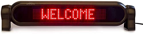 LSZ LED Sign Led Car Rear Window Sign Board Scrolling Message Display Board 12V Led Banner with Remote Controller Scrolling Message Tag LED Sign (Color : Red)