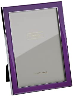 purple paper photo frame 1 Purple decoupaged picture frame mod podged 4x6 wood photo frame purple 4x6 cardstock covered picture frame