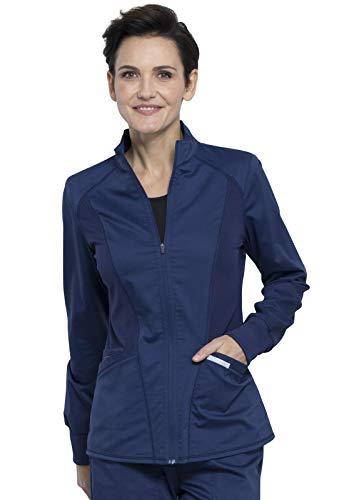Workwear Revolution Women Scrubs Jacket Zip Front High-Low WW301, XL, Navy