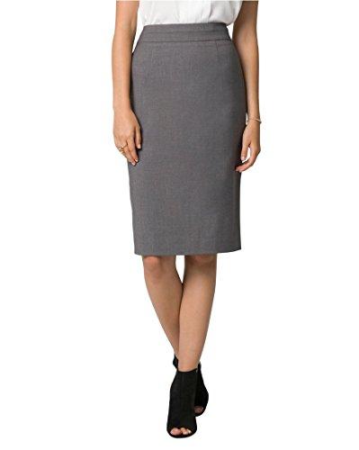 LE CHÂTEAU Tailored High Waisted Pencil Skirt,14,Medium Grey