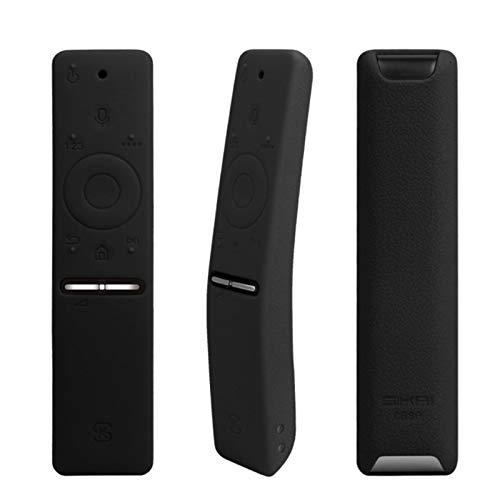 BANAZ Caja del teléfono de la Cubierta de Silicona Protectora for el Samsung Smart TV Versión Voz Control Remoto UA55KU6300J / 6880J UA49KS7300 st (Color : Black)